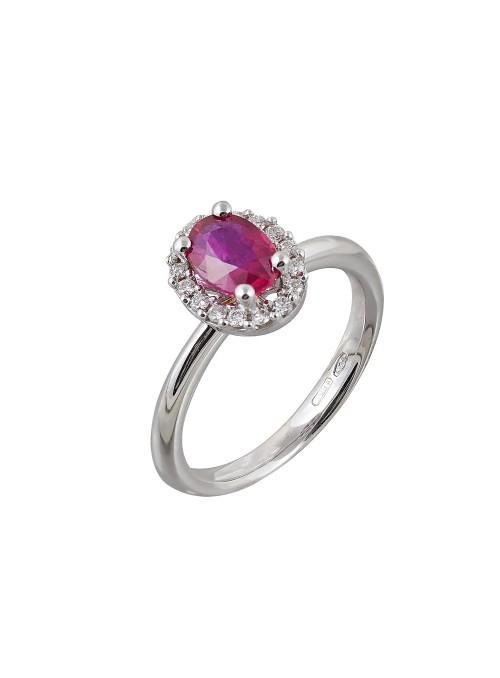 Δαχτυλίδι λευκόχρυσο Κ18 με...
