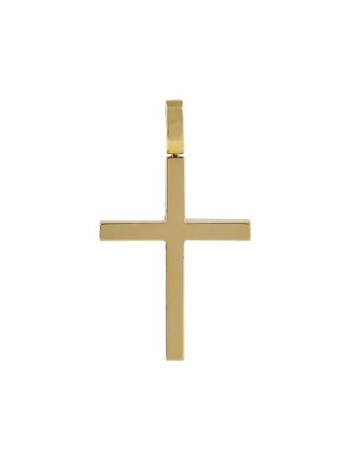 Σταυρός σε κίτρινο χρυσό Κ18